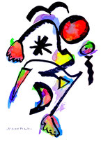 """""""o. T. 6"""", Werkverzeichnis 846, vom 15.11.1995, Tusche, Aquarell und Filzstift auf Papier, Größe b 36,0 cm * h 48,0 cm"""