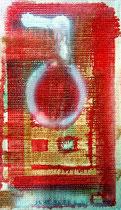 """""""Tapete I"""", WVZ 1.205, 26.12.96 / Materialien sind in der Kunst völlig unwichtig. Man nimmt, was man findet und aus diesen Fundstücken formt die Seele ein Werk, das den Zustand Deiner Gedanken wiedergibt."""