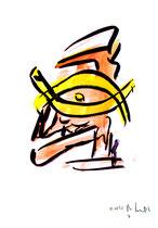 """""""o. T."""" 7 / Werkverzeichnis 1.687 / datiert 20.08.98 / Tusche und Aquarell auf Papier / Maße b 30,0 cm * h 42,0 cm"""