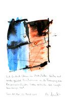 """Sich findende Ebenen..."" / WVZ 3.710 / Torre del Mar, 26. April / 2004 Aquarell, Tusche, Bleistift, Text auf Papier / b 21,0 cm * h 29,7 cm"