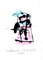 """""""Kein Rechtsanspruch"""" - Die Bibel - /  WVZ 3.139 / datiert 07.09.00 / Tusche und Aquarell auf Papier / Maße b 21,0 cm * h 29,7 cm"""