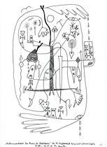 """18. """"Der Baum des Machbaren"""" / datiert 10.07.01 / Bleistift und Filzstift auf Papier / Maße b 21,0 cm * h 29,7 cm / WVZ 3.367"""