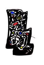 """""""o. T."""" 4 / Werkverzeichnis 1.838 / datiert 99 / Tusche und Ölkreide auf Papier / Maße b 59,4 cm * h 84,0 cm"""