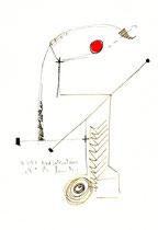 """""""o. T."""" 1 / Werkverzeichnis 1.335 / 07.07.1997 / Filzstift schwarz und rot sowie Bleistift auf Papier Maße jeweils b 24,0 cm * h 32,0 cm"""