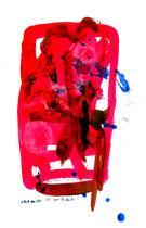 """""""Blick von oben rechts"""" - 5. Arbeit einer Serie von 7 Arbeiten - WVZ 3.661 / datiert 2004 Ölkreide, Aquarell und Tusche auf Papier / Maße b 42,0 cm * h 59,4 cm"""