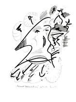 """""""Beginnende Gedankenvernetzung"""" Zeichnungsserie von insgesamt 7 Arbeiten. Hier Blatt 6 von 10/95 / Werkverzeichnis 567 b 30,0 cm * h 40,0 cm"""