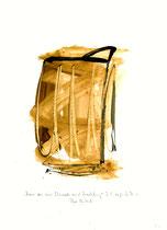 """""""Nimm von mir Schmach und Verachtung"""" - Die Bibel - / WVZ 3.158 / datiert 07.09.00 / Tusche und Aquarell auf Papier / Maße b 21,0 cm * h 29,7 cm"""