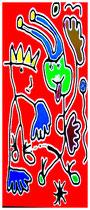 """""""Der König und sein Narr"""" / 1. Entwurf / Werkverzeichnis 2.512 / datiert 12.12.99 / PC-Zeichnung als Tintenstrahldruck auf Papier / Maße jeweils b 42,0 cm * h 59,4 cm"""
