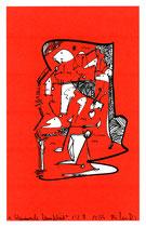 """""""Wandernde Menschheit"""" 1/2 A / Werkverzeichnis 2.387 / datiert 12.99 / PC-Zeichnung als Tintenstrahldruck auf Papier / Maße b 21,0 cm *h 29,7 cm"""