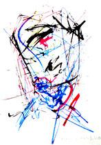 Besäufnis VI Isny, den 19.11.91 Farben, Kohlen, Bleistift auf Papier, b 24 cm * h 34 cm. Werkverzeichnis 220