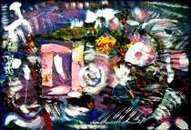 """""""o. T. (Jetzt - morgen ist es zu spät)"""" Gestringen, 25.10.92, Werkverzeichnis 317, Ölkreide, div. Farben, Lacke + weitere Materialien a. Pappe, b 70 cm * h 50 cm"""