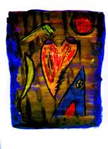 """o. T."" / WVZ 3.766 / datiert 04.10.2005 / Ölkreide und Aquarell auf Papier / Maße b 42,0 cm * h 59,4 cm"