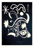 """""""o. T."""" 04.11.1995 / WVZ 830 Serie von 11 Arbeiten 1/11 Linoldruck schwarz auf Druckpapier / b 31,5 cm * h 47,5 cm"""
