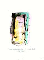 """""""Scheba - ein Benjameniter"""" - Die Bibel - / WVZ 3.160 / datiert 07.09.00 / Tusche und Aquarell auf Papier / Maße b 21,0 cm * h 29,7 cm"""