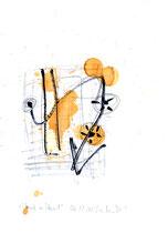 """""""Hand in Hand"""" / WVZ 3.226 / datiert 06.11.00 / Filzstift, Bleistift, Asche und Aquarell auf Papier / Maße b 21,0 cm * h 29,7 cm"""
