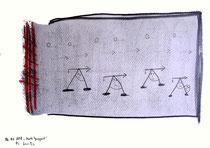 """""""Harte Gangart"""" Werkverzeichnis 1.561, datiert 06.01.98, Bleistift, Grafit und Rötel auf Papier, Maße b 42,0 cm * h 30,0 cm"""
