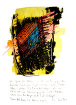 """Oh, Geist, du blöder..."" / WVZ 3.675 / Torre del Mar, 26. April 2004 / Aquarell, Tusche und Text auf Papier / b 21,0 cm * h 29,7 cm"