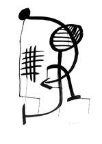 """""""o. T."""" 3 / Werkverzeichnis 1.837 / datiert 99 Tusche auf Papier Maße / b 59,4 cm * h 84,0 cm"""