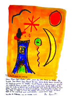 """""""Für Anita zum 03. Oktober"""" / WVZ 3.767 / Datiert 04. Oktober 2005 / Ölkreide, Aquarell und Text auf Papier / Maße b 42,0 cm * h 59,4 cm"""