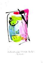 """""""Die Versuchung Jesu"""" - Die Bibel - / WVZ 3.151 / datiert 07.09.00 / Tusche und Aquarell auf Papier / Maße b 21,0 cm * h 29,7 cm"""