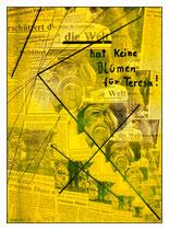 """""""die Welt hat keine Blumen für Teresa!"""" /  Werkverzeichnis 1.549 / datiert 06.09.97 / kopierte Collage aus Zeitungen, handbearbeitet und beschriftet / Maße jeweils b 29,7 cm * h 42,0 cm"""