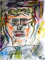 """""""Multiple Person"""" Gestringen, 08/92, Werkverzeichnis 306, Aquarell auf Papier, b 30,0 cm * h 40,0 cm"""
