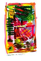 """""""Gefangene Farben"""" - 2. Arbeit einer Serie von 7 Arbeiten - WVZ 3.658 / datiert 2004 Ölkreide, Aquarell und Tusche auf Papier / Maße b 42,0 cm * h 59,4 cm"""