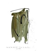 """""""Wenn dein Herz weise ist"""" - Die Bibel - /  WVZ 3.140 / datiert 07.09.00 / Tusche und Aquarell auf Papier / Maße b 21,0 cm * h 29,7 cm"""