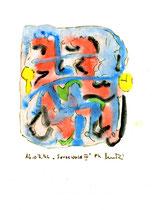 """""""Spreewald IV"""", WVZ 1.019 / datiert 16.07.1996 / Tusche und Aquarell auf Papier / Größe b 12,0 cm * 16,0 cm"""