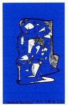"""""""Wandernde Menschheit"""" 1/2 D / Werkverzeichnis 2.390 / datiert 12.99 / PC-Zeichnung als Tintenstrahldruck auf Papier / Maße b 21,0 cm *h 29,7 cm"""