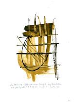 """""""Der Abtrünnige sucht nach einem Vorwand, um loszubrechen mit aller Gewalt"""" - Die Bibel - / WVZ 3.155 / datiert 07.09.00 / Tusche und Aquarell auf Papier / Maße b 21,0 cm * h 29,7 cm"""