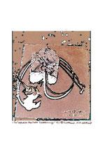 """""""Die Evolution klerikaler Verordnungen"""" 1/3 (4) Werkverzeichnis 2.191 / datiert 15.07.99 / Fotoveränderung eines eigenen Kunstwerkes als Tintenstrahldruck auf Papier / Maße b 19,2 cm * h 29,6 cm"""