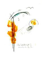"""""""Eine Seele löst sich III"""", Werkverzeichnis 574, vom 10.10.1995, Bleistift, Zigarre und Spülmittel auf Papier, Größe b 21,0 cm * h 29,7 cm"""