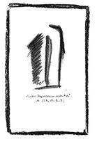 """""""Linkes Magnetfeld vor rechtem Eisen"""" WVZ 1.183, datiert 10.12.96 Kohle und Filzstift auf Bütten Maße b 10,0 cm * h 16,0cm Verkauft an Elke Schmidt-Sawatzki, 32339 Espelkamp"""