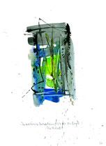 """""""Die zuverlässige Verheißung"""" - Die Bibel - / WVZ 3.162 / datiert 07.09.00 / Tusche und Aquarell auf Papier / Maße b 21,0 cm * h 29,7 cm"""