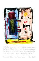 """Weiblicher Gang..."" / WVZ 3.711 / Torre del Mar, 26. April 2004 / Aquarell, Tusche, Bleistift, Text auf Papier / b 21,0 cm * h 29,7 cm"