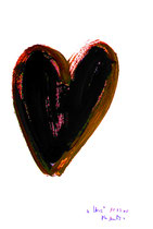 """Herz"" - Seelenbild 2 - / WVZ 3.268 / datiert Wiesmoor, 11.12.00 / diverse Farben auf Papier / Maße b 30,0 cm * h 42,0 cm"
