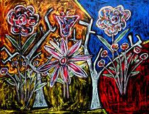 """""""Utopia"""" Gestringen, 08/92, Werkverzeichnis 300 Kreiden auf Papier aufgeklebt auf Holz / Maße b 55,7 cm * h 41,6 cm"""