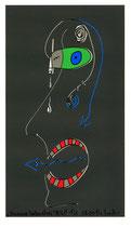 """""""Stummer Seelenschrei"""" 1 v. 1 / WVZ - 2.765 / PC-Zeichnungen und Tintenstrahldruck / Maße b 21,0 cm * h 29,7 cm"""