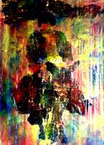 """""""Korse V"""" Fünftes Bild einer Serie von 6 Drucken vom Pappe-Druckstock, Gestringen, den 18.04.1992, Werkverzeichnis 287, Farbdruck auf Japanpapier, b 35,2 cm * 49,8 cm"""