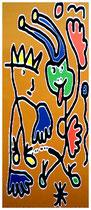 """""""Der König und sein Narr"""" / 2. Entwurf / Werkverzeichnis 2.513 / datiert 12.12.99 / PC-Zeichnung als Tintenstrahldruck auf Papier / Maße jeweils b 42,0 cm * h 59,4 cm"""