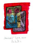"""""""Märzbild II"""" / WVZ 3.699 / datiert T. d. M., 03/04 / Ölkreide und Tinte auf Papier / Maße b 21,0 cm * h 29,7 cm"""