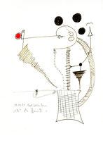 """""""o. T."""" 3 / Werkverzeichnis 1.337 / 08.07.1997 / Filzstift schwarz und rot sowie Bleistift auf Papier Maße jeweils b 24,0 cm * h 32,0 cm"""