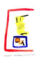 """""""Umgriff rot"""" / WVZ 3.704 / Datiert Bad Wildungen, 06.04.2004 / Aquarell und Tusche auf Japanpapier / Maße b 21,0 cm * h 29,7 cm"""