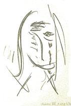 Besäufnis XVIII Isny, den 19.11.91 Farben, Kohlen, Bleistift auf Papier, b 24 cm * h 34 cm. Werkverzeichnis 232