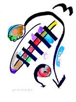 """""""o. T. 3"""", Werkverzeichnis 843, vom 15.11.1995, Tusche, Aquarell und Filzstift auf Papier, Größe b 36,0 cm * h 48,0 cm"""