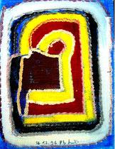"""""""Tapete II"""", WVZ 1.206, 26.12.96 / Nichts ist schlimmer für die Kunst, als sich einem Trend zu verschreiben, der sich derzeit finanziell lohnen könnte. Damit verraten wir unsere Seele."""