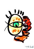 """""""o. T."""" 1 / Werkverzeichnis 1.681 / datiert 20.08.98 / Tusche und Aquarell auf Papier / Maße b 30,0 cm * h 42,0 cm"""