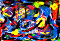 """""""Die Schöpfung II"""" / 06.12.2006 / Öl- und Acrylfarben (u.a.) auf Leinwand / b 100,0 cm * h 70,0 cm / Werkverzeichnis 3770"""