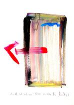 """""""Bricht seitwärts aus"""" / Werkverzeichnis 3.073 / datiert Göhrde, 14.08.2000 / Aquarell und Tusche auf Papier / Maße b 42,0 cm * h 59,4 cm /Erworben durch Peter Glas, Algarrobo"""